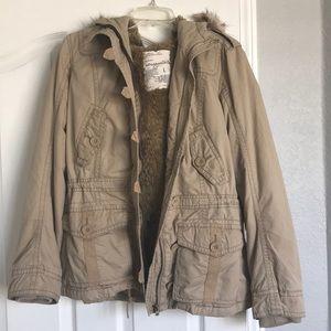 Aeropostale jacket with detachable fur hood